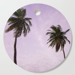 purple palms Cutting Board