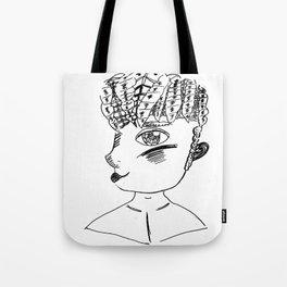 Line art Person Tote Bag