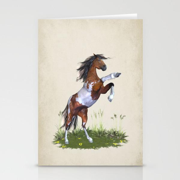 Rearing silhouette horse #850.050 MODERN WIDE swap card MINT