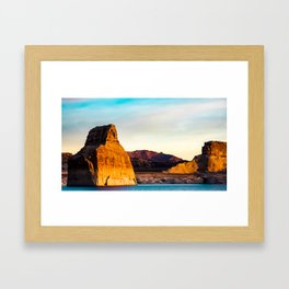 Lone Rock. Glen Canyon. Utah. USA Framed Art Print