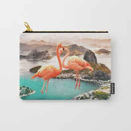 Collage, Flamingo, City, Creative, Nature, Modern, Trendy, Wall art Carry-All Pouch