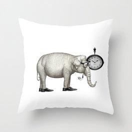 Elefante con gafas, espera. Throw Pillow