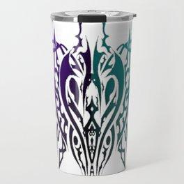 Tribal Spider Purple and Turquoise Travel Mug