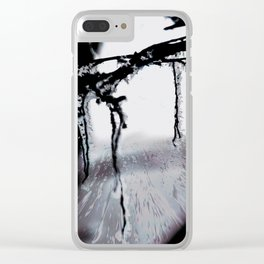 Concept frozen : Ice on branches Clear iPhone Case