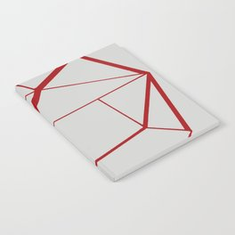 RED GEOMETRIC Notebook