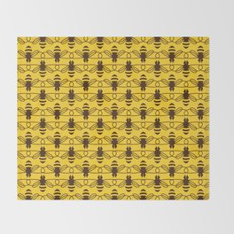 Be safe - save bees Throw Blanket
