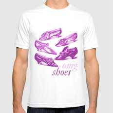 omg shoes MEDIUM White Mens Fitted Tee