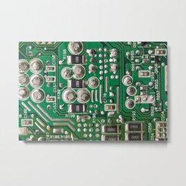 Circuit Board Macro Metal Print