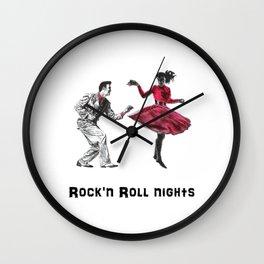 ROCK N ROLL NIGHTS Wall Clock