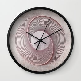 Geometrical Line Art Circle Distressed Rosegold Wall Clock