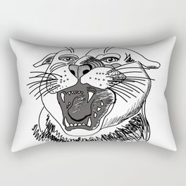 tiger angry growls ( https://society6.com/vickonskey/collection ) . Art Rectangular Pillow