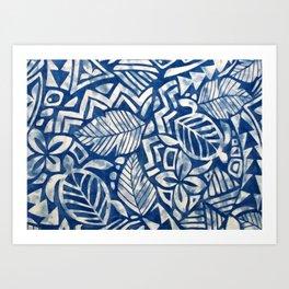 Hawaiian tribal pattern Art Print