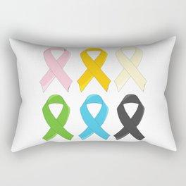 SIx Awareness Ribbons Rectangular Pillow