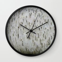 Birch Bark on a Fallen Tree Wall Clock