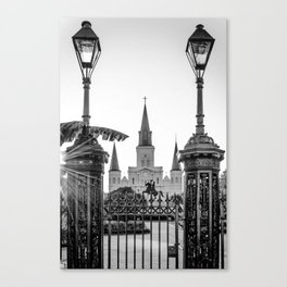 St. Louis Cathedral Blk & Wht Canvas Print