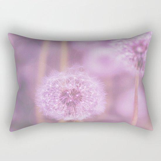 Romantik pink dandelion flower meadow Rectangular Pillow