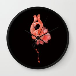 Flamingo ballerina Wall Clock