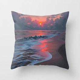 Summer's Passing Throw Pillow