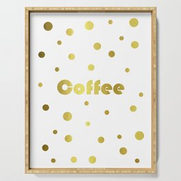 Coffee Gold Serving Tray