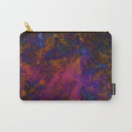 Day Dreaming - Abstract, metallic, textured, paint splatter style artwork Carry-All Pouch
