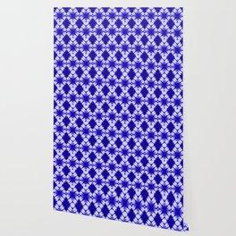 the big diamond tie dye in cobalt Wallpaper