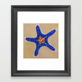 Sea Star Blue Framed Art Print