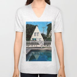 Floridian log cabin Unisex V-Neck