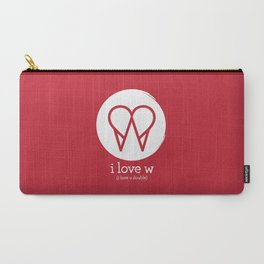 I Love W Carry-All Pouch