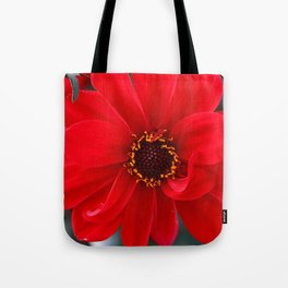 Red Red Dahlia Tote Bag