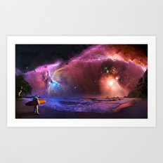 Space Surfer Art Print