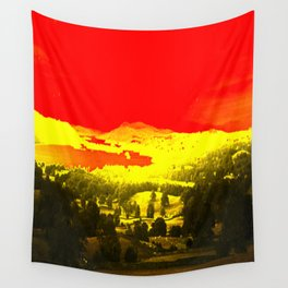 Digitally Altered Photo of Lake Windermere Wall Tapestry