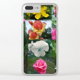 Floral Mosaic Clear iPhone Case