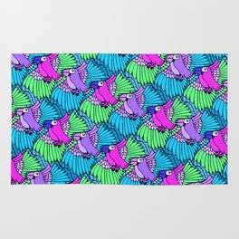 Tessellated Parrots Pink Rug