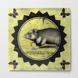 Little Hamster Metal Print