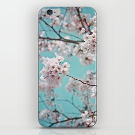blossoms all over ~ color option teal iPhone Skin
