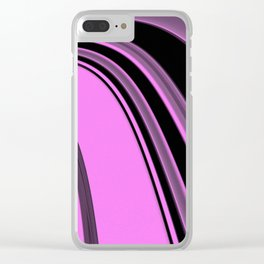 Pink and Black Slick Clear iPhone Case