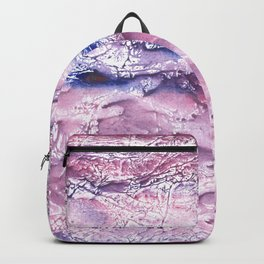Plum marble abstract Backpack
