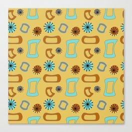 Mid Century Modern I in Mustard Yellow Canvas Print