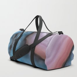 Pink And Blue Agate Duffle Bag
