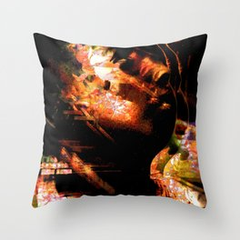 """""""Distorted Profile"""" Throw Pillow"""