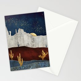 Moonlit Desert Stationery Cards