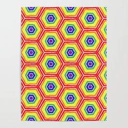 Pride Honeycomb Poster