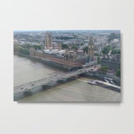 Big Ben from London Eye Metal Print