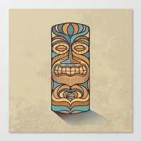 tiki Canvas Prints featuring Tiki by Brad Hansen