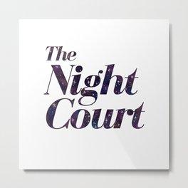 The Night Court Galaxy Design White Metal Print