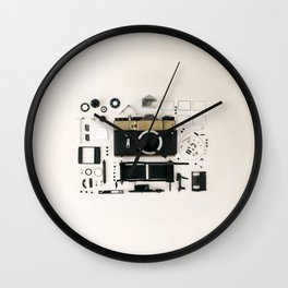 Camera gold Wall Clock