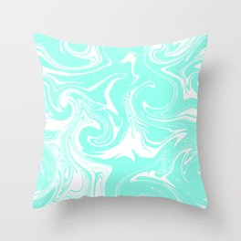 Marble pattern light blue Throw Pillow
