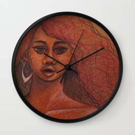Cheetah Girl Wall Clock