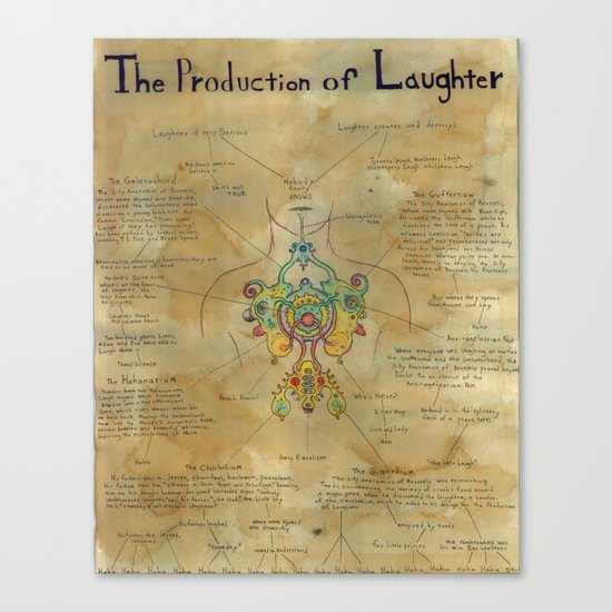 The Production of Laughter Canvas Print