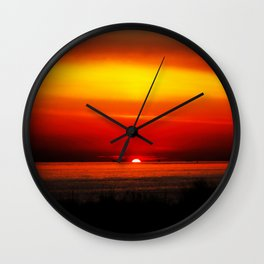 Distant Ships Wall Clock